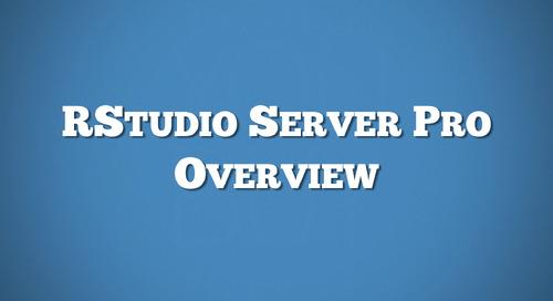 RStudio Server Pro Overview