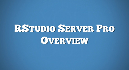 RStudio Server Pro Overview