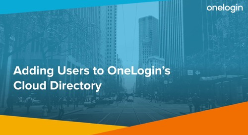 Add Users to OneLogin Cloud Directory