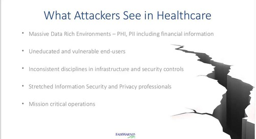 What's at Stake? Security, Trust and the Future of Healthcare