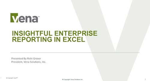 Insightful Enterprise Reporting in Excel