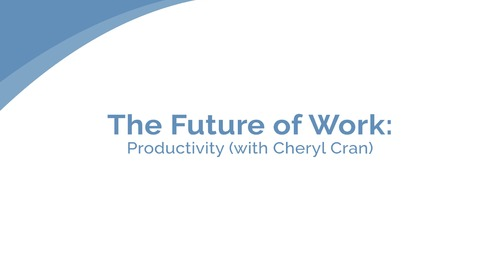 Cheryl Cran: Productivity