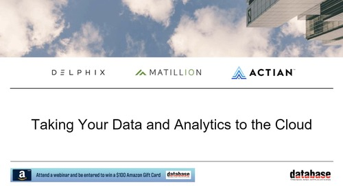 DBTA Roundtable - Taking Your Data and Analytics to the Cloud