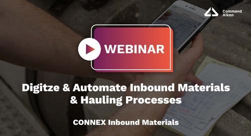 Digitze & Automate Inbound Materials & Hauling Processes