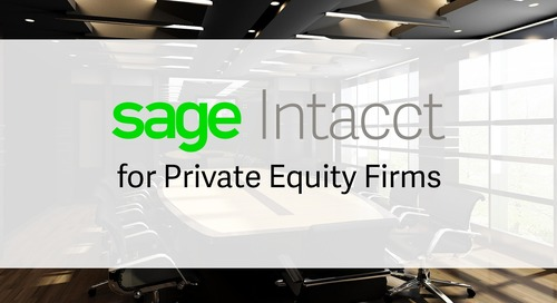 Sage Intacct for Private Equity Firms