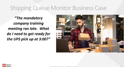 Achieve End to End Shop Floor Visibility with Shipping Queue Monitor