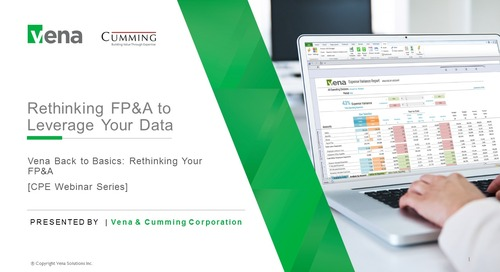 Rethinking FP&A to Leverage your Data
