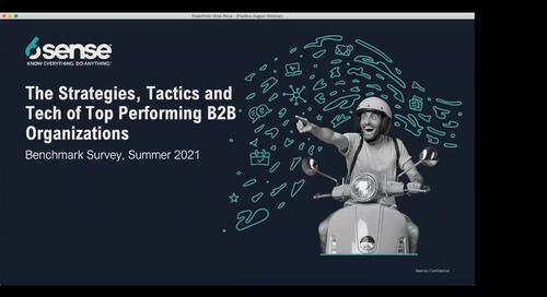 Strategies, Tactics & Tech of Top-Performing B2B Organizations