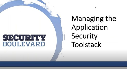 Managing the AppSec Toolstack