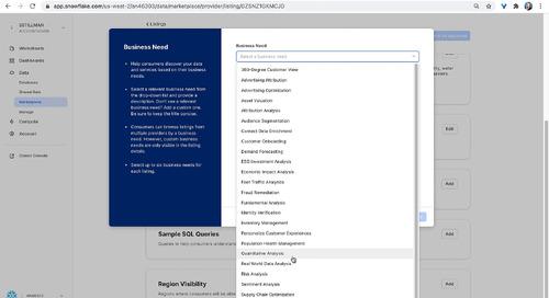 Create a Snowflake Data Marketplace Listing
