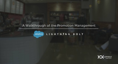 A Walkthrough of The Appirio Promotion Management Lightning Bolt