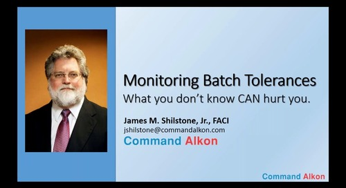 #4 Monitoring Batch Tolerances: what you don't know CAN hurt you