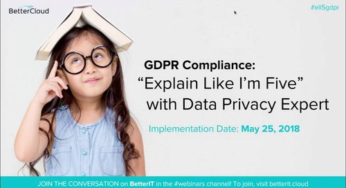 """GDPR Compliance: """"Explain Like I'm Five"""" with Data Privacy Expert"""