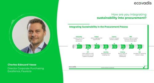 Come sta integrando Faurecia la sostenibilità all'interno dei sui processi di approvvigionamento?