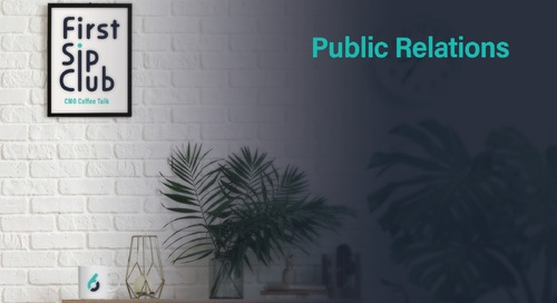The CMO's Role in Public Relations