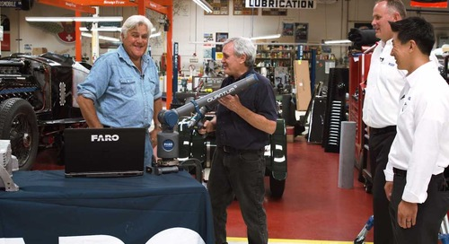 Jay Leno's Garage® receives their new Quantum S FaroArm!