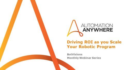 Driving ROI as you scale your robotics programs
