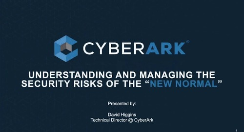Managing the Security Risks of the New Normal
