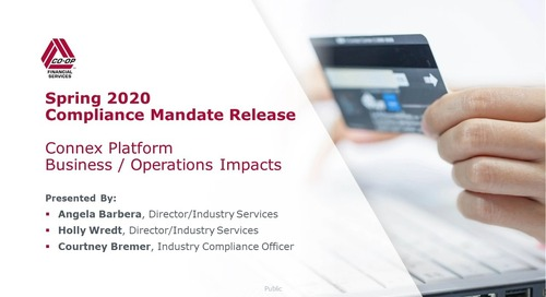 Spring 2020 Mandate Release - Business Impacts - Connex