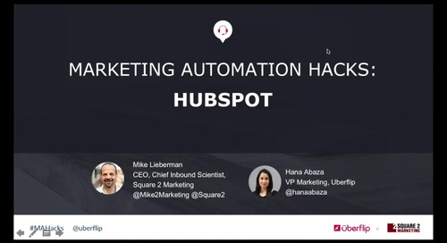 Marketing Automation Hacks 2016: HubSpot
