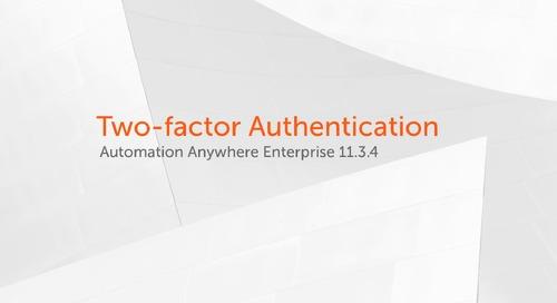 Enterprise 11.x Features - Two-factor Authentication