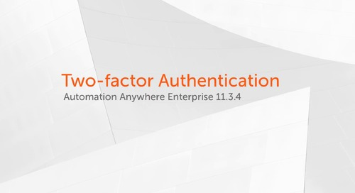 Enterprise 11.x Features - Two-factor Authentication