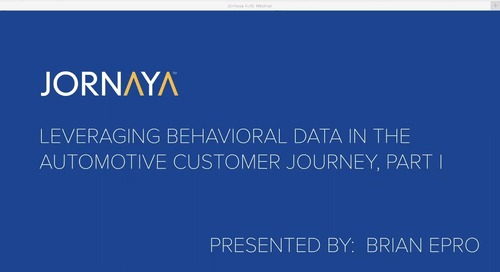 Leveraging Behavioral Data in the Automotive Customer Journey