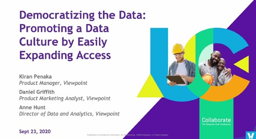 Democratizing the Data: Promoting a Data Culture by Easily Expanding Access in Vista