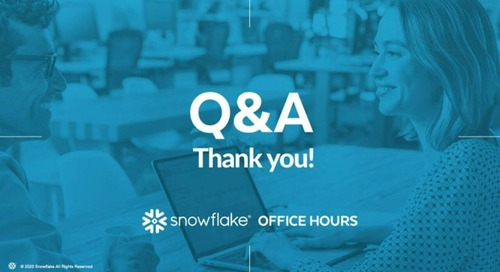 Snowflake Office Hours - Mastery Logistics