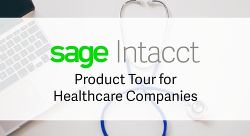 Sage Intacct Product Tour for Healthcare Organizations