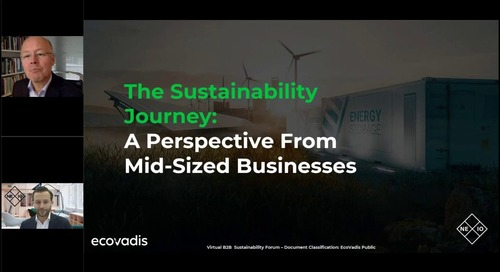 The Sustainability Journey: A perspective From Mid-Sized Businesses