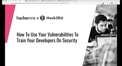 How to Use Your Vulnerabilities to Train Your Developers on Security