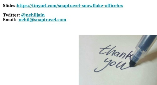 Snowflake Office Hours - SnapTravel