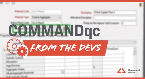 Introducing COMMANDqc | Version 2020.2