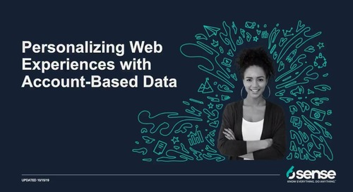 6sense+ Personalize Web with Account-Based Data