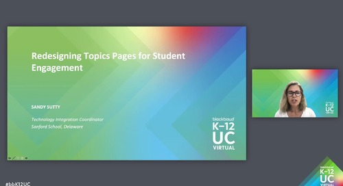 Redesigning Topics Pages for Student Engagement