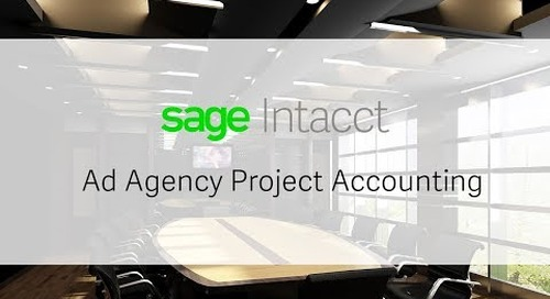 Ad Agency Project Accounting - Sage Intacct