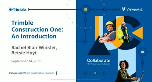 Trimble Construction One: An Introduction