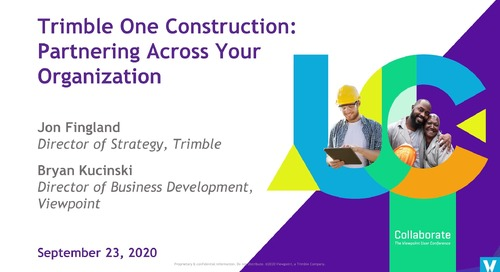 Trimble One Construction: Partnering Across Every Point of Your Org - Industry Professional
