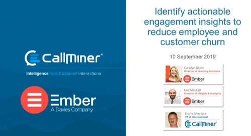 Identify Actionable Engagement Insights to Reduce Employee and Customer Churn featuring Ember