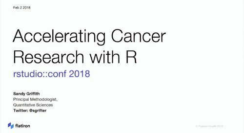 Accelerating cancer research with R – Sandra Griffith