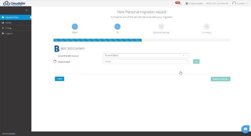 Cloudsfer + BIM 360 Integration