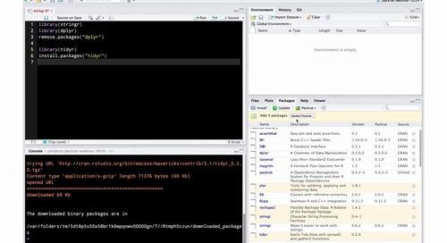 Managing package dependencies in R with packrat - 46:59