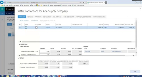 Multi Company and Centralized Payments in Microsoft Dynamics 365 Enterprise for Operations