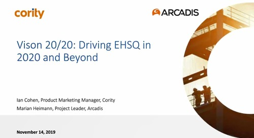 Vision 20/20: Driving EHSQ in 2020 and Beyond