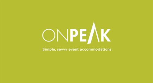 Say hello to onPeak. Simple, savvy event accommodations.