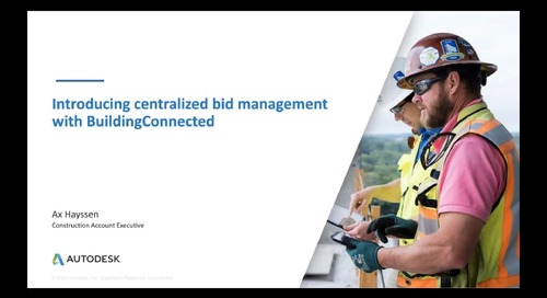 Introducing centralized bid management: Win more work with BuildingConnected