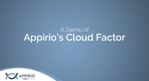 Appirio's Cloud Factor Demo