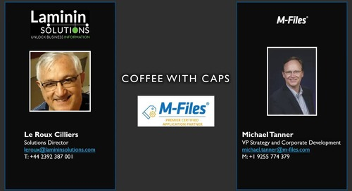 Information Innovation Podcast: Coffee with CAPs - Laminin Solutions