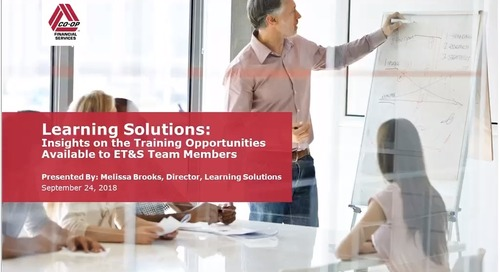 ET&S Integration Webinar - Learning Solutions